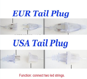 Image 2 - 5M Waterproof Outdoor Christmas Light Droop 0.4 0.6m Led Curtain Icicle String Lights Garden Mall Eaves Decorative Lights