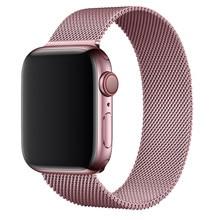 Pasek pleciony z siateczki metalowej Milanese do zegarka Apple watch seires 6 5 4 3 SE iWatch 38mm 42mm akcesoria pasek bransoletka pasek do Apple watch 40mm 44mm