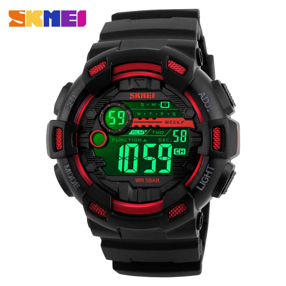 Skmei Outdoor Militaire Led Back Light Elektronische Mannen Klok Horloge Countdown Kalender Waterdichte Sport Horloges Reloj Hombre 1243