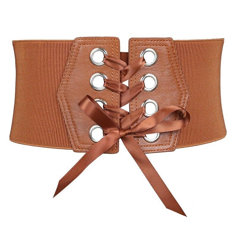 Fashion Black Lace Belts For Women Luxury Brand Designer Women Belt For Wedding Dress Wide Female Waistband Belts Cummerbunds