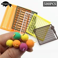 5Set=500PCS Carp Fishing Accessories Micro Bait Stopper Boillies Bait Stop Bead Carp Bait Holder for Hair Rig Tackle Accessories
