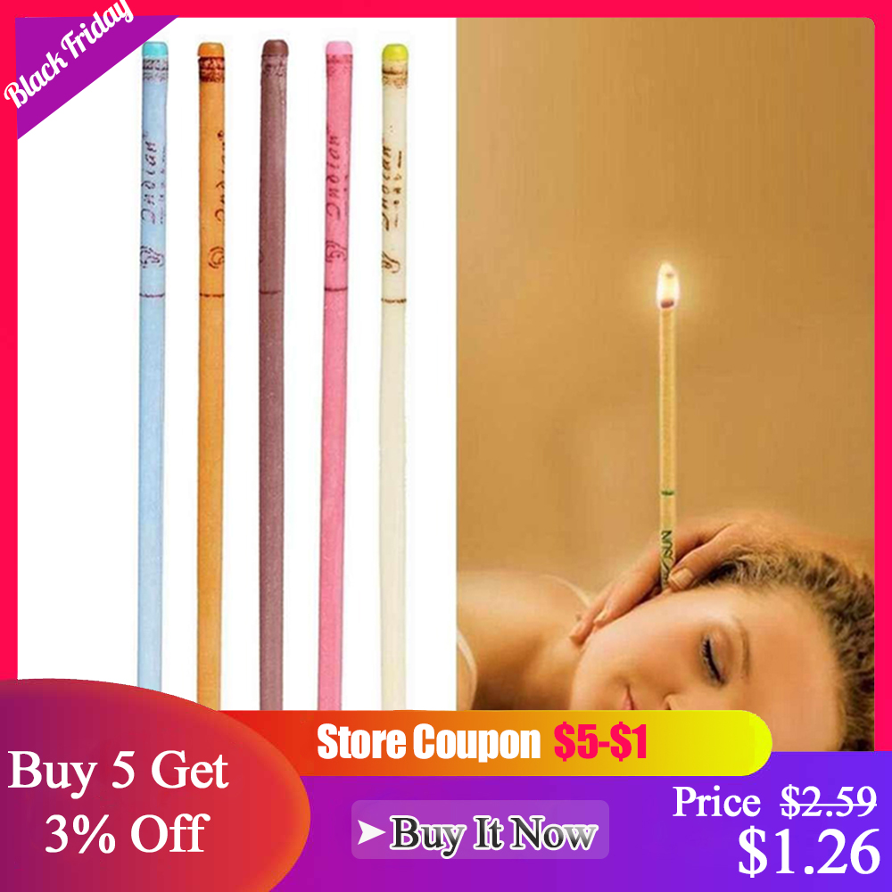 10pcs/lot Ear Wax Removal Candle Cleaning Candles Healthy Care Hollow Coning Treatment Indiana Therapy Fragrance Wax Candle