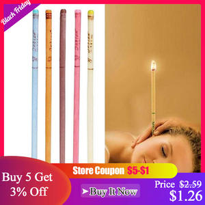 10pcslot ear wax removal candle cleaning candles Healthy care hollow Coning treatment Indiana Therapy fragrance wax candle