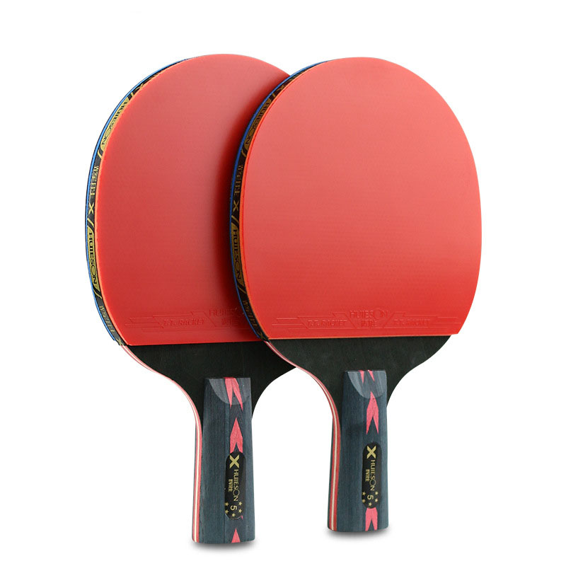 2 Pcs Upgraded 5 Star CarbonTable Tennis Bat Racket Long Cable Short Ping Pong Paddle Racket Bat With Good Control With Case
