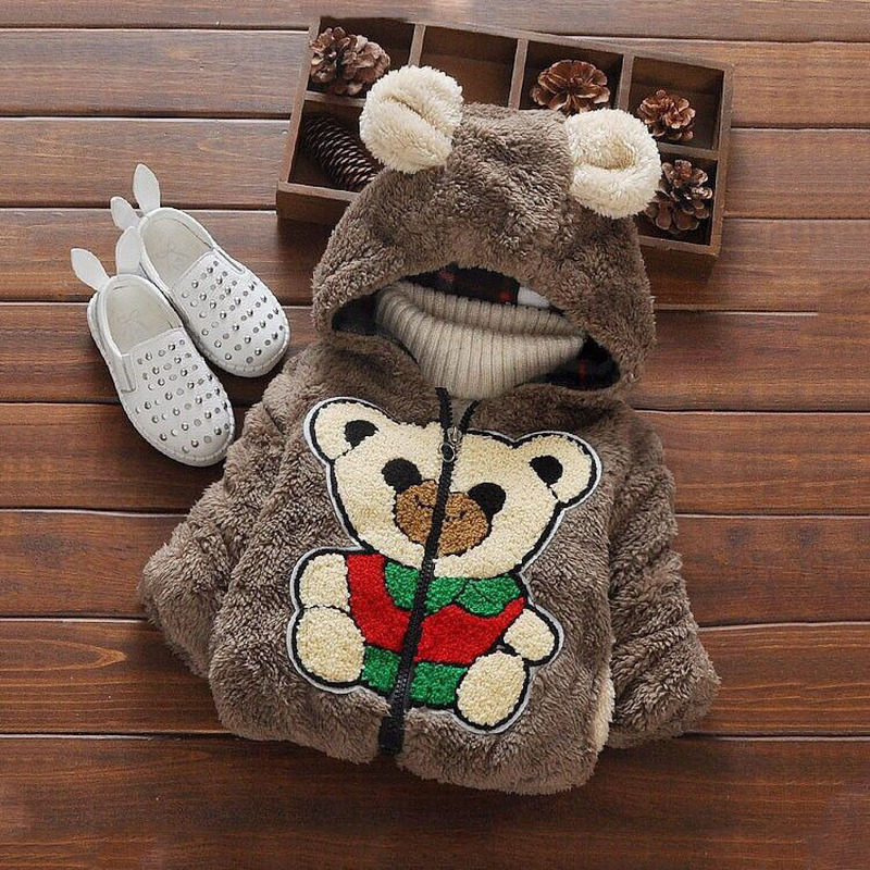 Fashion Baby Boys Jackets Fur Collar Autumn Winter Kids Warm Thick Parkas Jacket Children Outerwear Girl Coat Boys Girls Clothes
