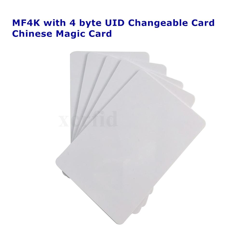 13.56mhz MF4K S70 0 Block Writable 4 Byte UID Changeable Rewritable RFID Card Chinese Magic Card