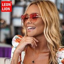 LeonLion Heart Sunglasses Women Rimless Sunglasses