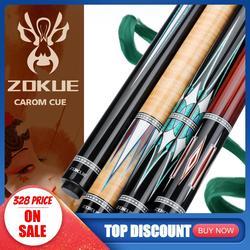 ZOKUE Carom Stick profesional Carom billar taco coreano 3 Cushion Carom Cue Taper 12mm punta 142 cm arce canadiense seleccionado