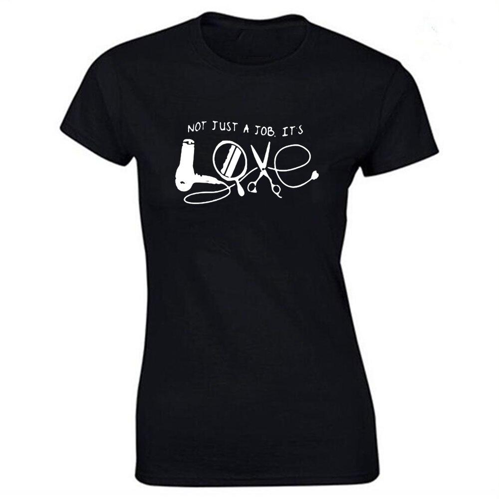 Парикмахерская платье с цветочным узором, материал хлопок, Женская забавная футболка для Леди Уличная регулярные топы, футболки