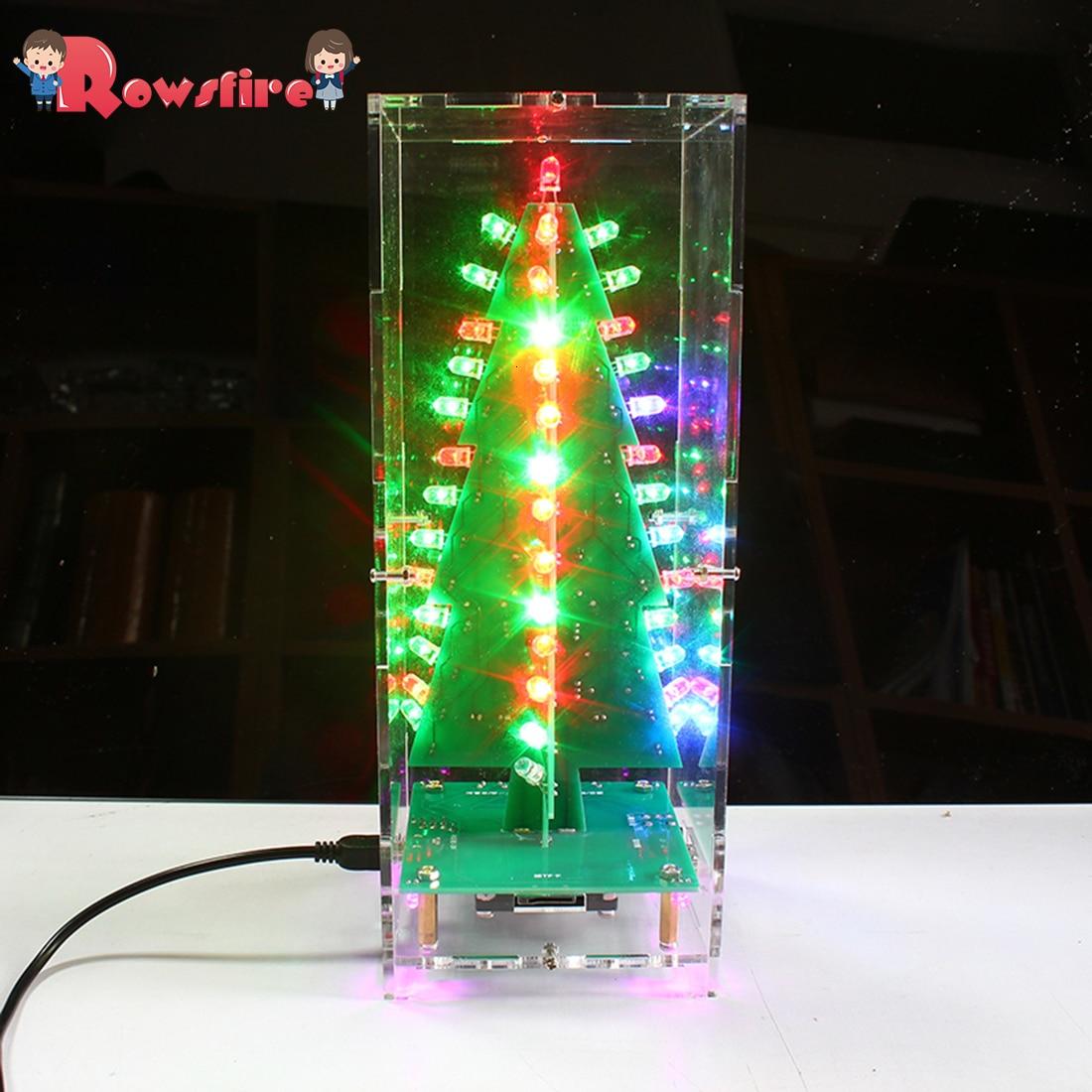 DIY Colorful LED Display Lamp DIY Welding Light Kits DIY Lamp Brain-Training Toy - Flash Tree