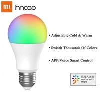 Xiaomi-bombilla LED Inncap E27, luz blanca cálida RGB regulable, conexión WiFi, Control remoto por aplicación Mijia, atenuación inteligente