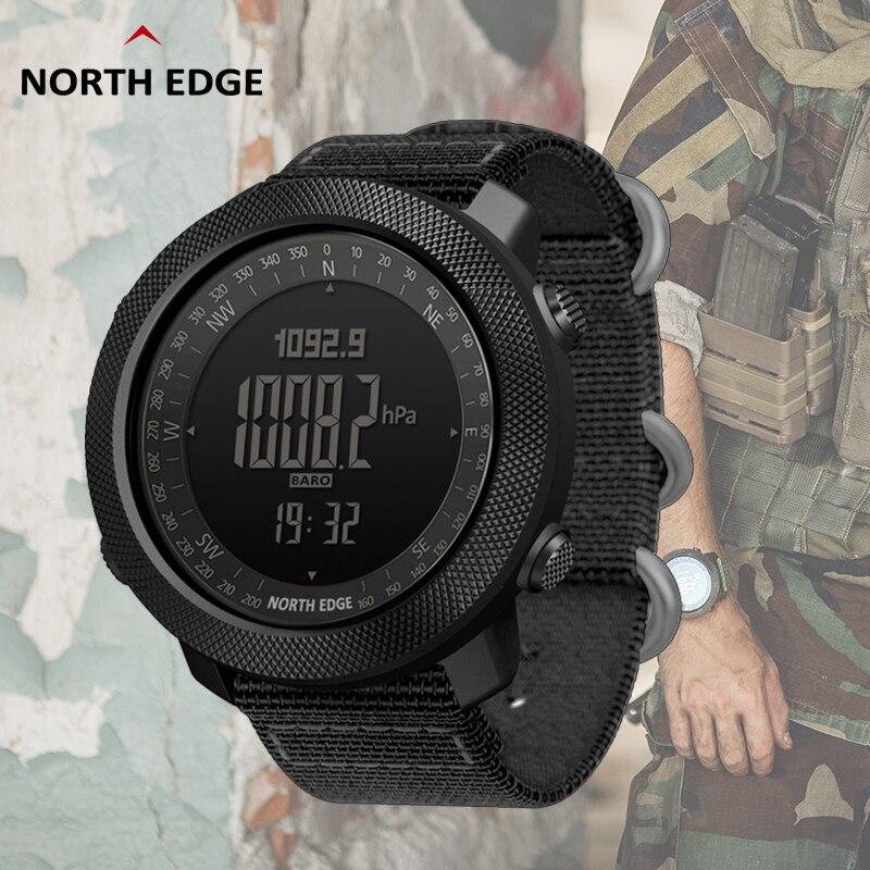 North Edge, умные часы, мужские спидометр, спортивные часы, для пешего туризма, альтиметр, барометр, компас, фитнес-трекер, цифровые носимые часы