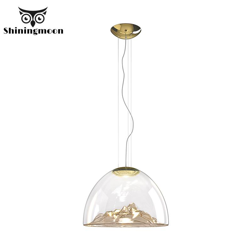 Nordic Gold Glass Pendant Lights Modern Home Decor Clothing Store LED Pendant Lamps Restaurant Bar Cafe Shop Lighting Fixtures