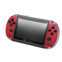 8GB 4.3 Inch Portable Handheld Game Console HD Video Game Console Built-In 3000 Retro Classic Games for GBA FC Arcade(Red)