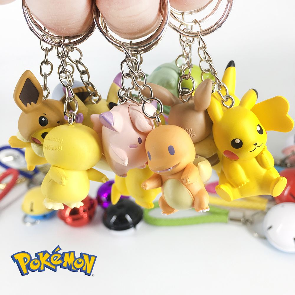DIY Pokemon Keychain Pikachu Action Figure Pokemon Elf Series Children Toy Christmas Gifts