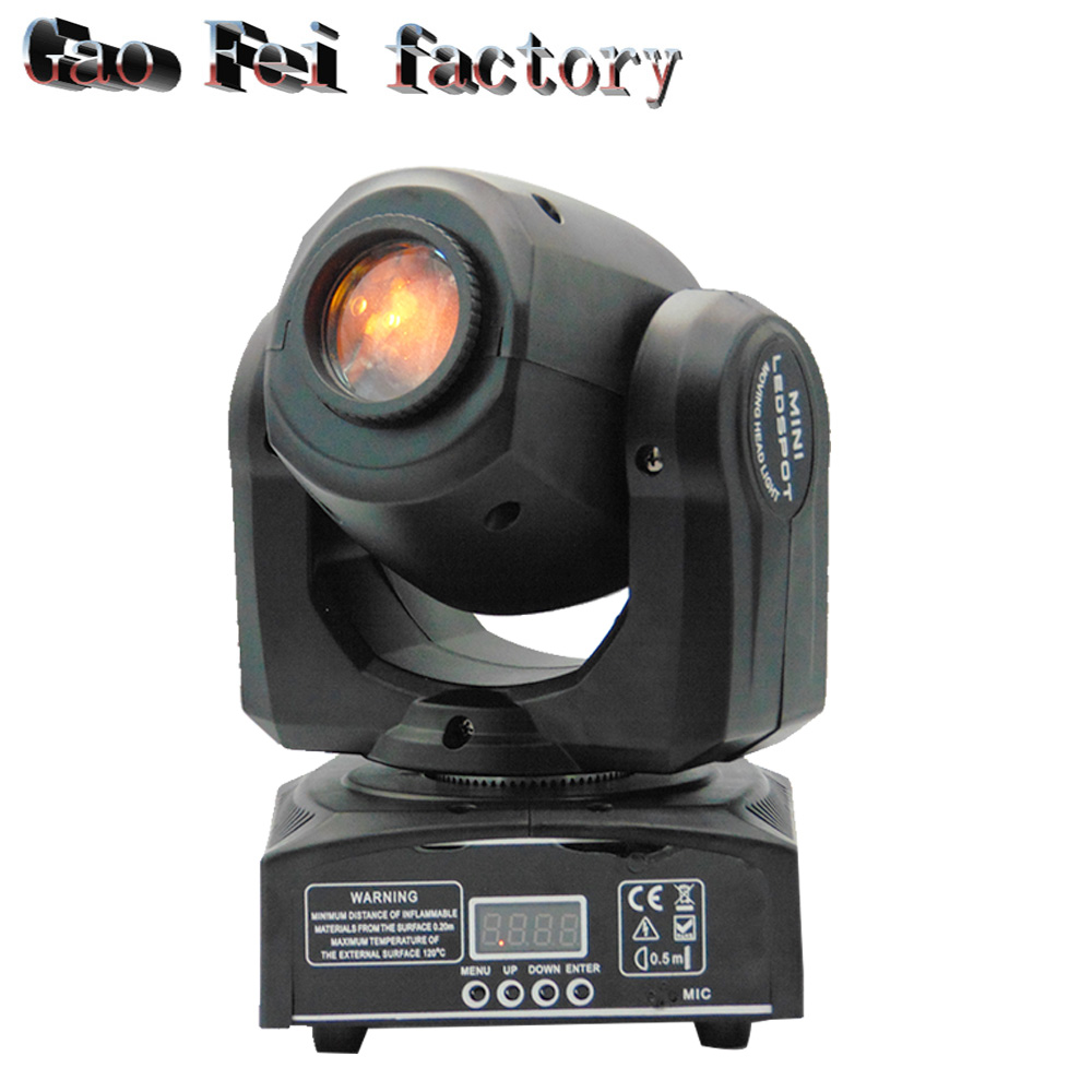 LED Moving Head Light 10W With 8 Gobo 8 Pattern Spotlight By DMX Controlled 9/11 Channel For Disco Club Party Stage Lighti