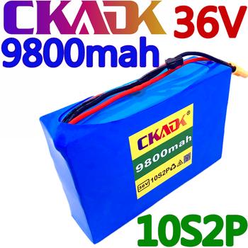 CKADK 10S2P 36V 9 8Ah 450Watt 18650 akumulator litowo-jonowy ForScooter deskorolka ebike rower elektryczny 42V 37V 35E XT60 SM 2P tanie i dobre opinie NONE CN (pochodzenie) 1 2KG 140 * 95 * 40 mm 36V9800mah Electric tool Li-ion