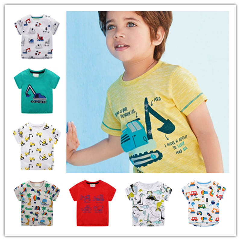 New Summer Baby Boys T-Shirt For Kids Clothes Short Sleeve Cartoon T-Shirt Baby Boys Tops Tees Toddler Boys Children's  Clothes