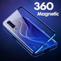 360 Metal Magnetic Case Cover For Xiaomi Redmi note 7 8 Pro Redmi K20 Pro mi A3 9 9se 8 9t pro Pocophone F1 Tempered Glass Case