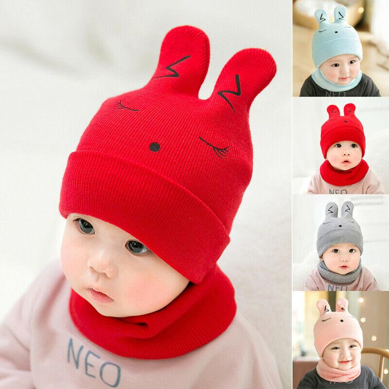 Baby Girls Boys Knitted Hat Winter Warm Bear Cute Cap Kids Wool Cap Beanies Gift Hat Warm Beanies