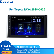 Android 10.0 Car Radio 1 Din For Toyota RAV4 Multimedia 2018 2019 2020 RAV4 Autoradio