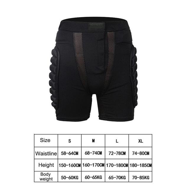 Outdoor Total Impact Hip Pad Protective Shorts Light Snowboard Ski Skating Hip Protection Padded Sports Gear Unisex 6