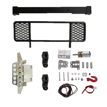 mn model 1 12 d90 d91 rc car spare parts metal pedal y51e Metal Front Bumper Protection Board Winch for MN D90 D91 D99 D99S 1/12 2.4G 4WD RC Car Upgrade Spare Parts,Black