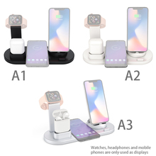 4 In 1 Wireless Charging Dock Station Mobile Phone Charger Stand for Wireless Phones Watchs Earphones