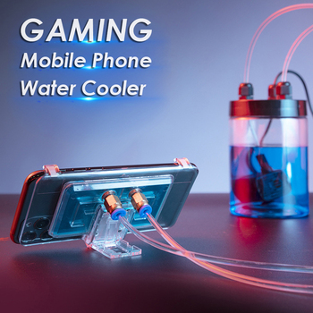 Mobile Phone Water Cooling Radiator Gaming Universal Phone Water Cooler Adjustable Portable Fan Holder For iPhone Samsung Huawei