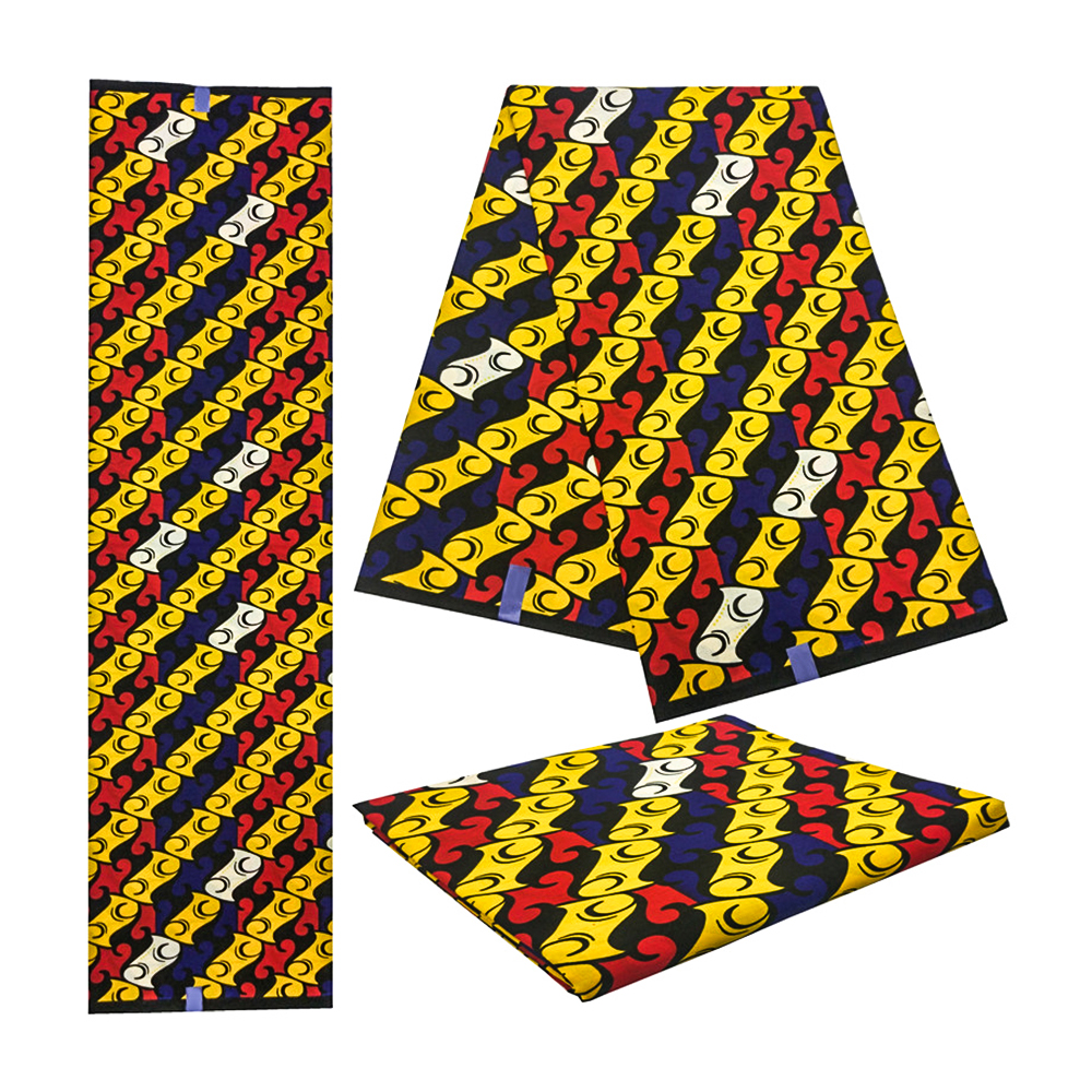 Veritable Wax Veritable Guaranteed Real Dutch Wax African Fabric Real Wax Veritable Prints Fabric For Women Dress 6yards 2019