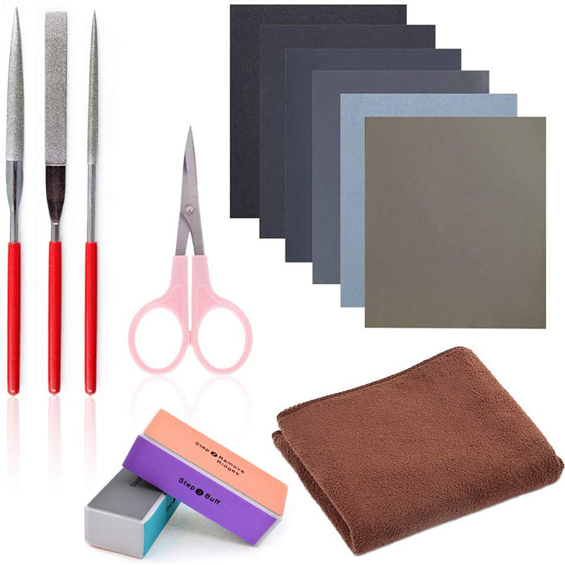 13 Pieces Resin Casting Tools Set - Include Sand Papers, Polishing Blocks,File,for Polishing Epoxy Resin Jewelry Making Supplies
