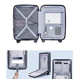 Image 2 - NINETYGO 90FUN לשאת על מזוודות עם ספינר גלגלי 20 אינץ Hardside Hardshell TSA תואם מזוודה מול כיס נעילת כיסוי