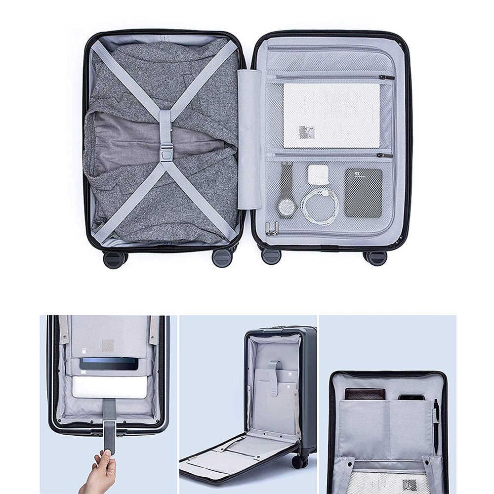 Ninetygo 90fun carry on bagagem com rodas giratórias 20 Polegada hardshell tsa complacente mala frente bolso bloqueio capa