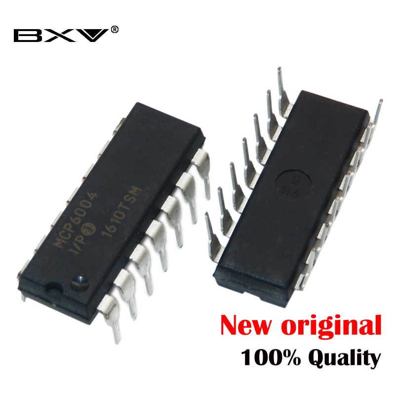 (10piece)MCP6004-I / P MCP6004 OP GP 1MHZ RRO DIP14 new ic