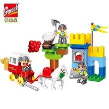 Legoingly Castle War Knight Blocks Children Big Size Building Blocks Educational Duplo Toy For Kid Gift Bricks Toy