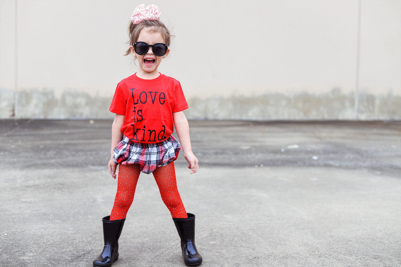 Love Is Kind T Shirt Valentine T-shirt Kids LoveT Shirts Youth Valentine Shirt Infant Heart Tee Shirts Valentines Day Kids Shirt
