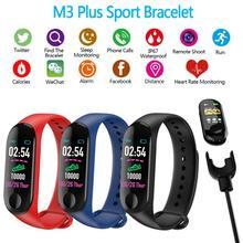 Шагомер для бега M3 фитнес-часы плюс Монитор артериального давления фитнес-трекер для измерения сердечного ритма умный Bluetooth браслет счетчик шагов