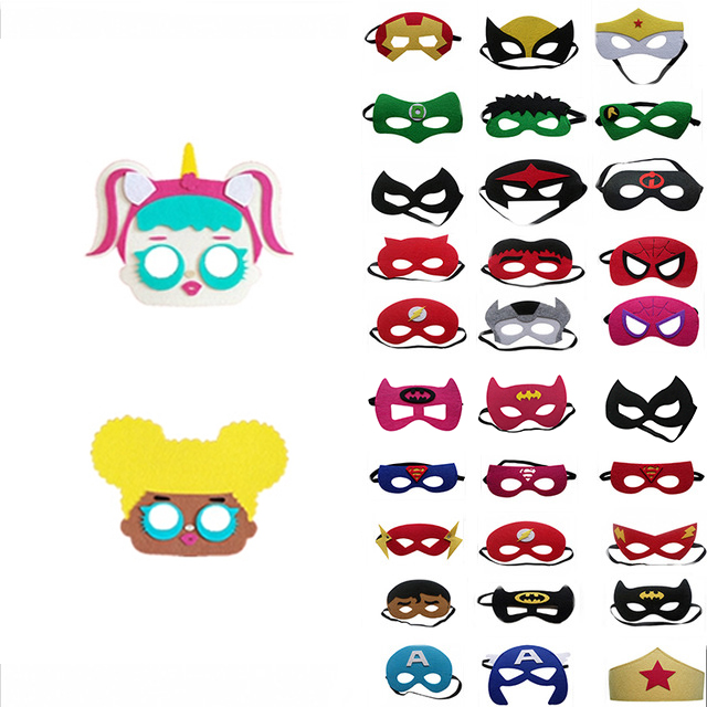 Cosplay Superhero Mask Halloween Christmas Children's Play Mask Want Birthday Party Gift