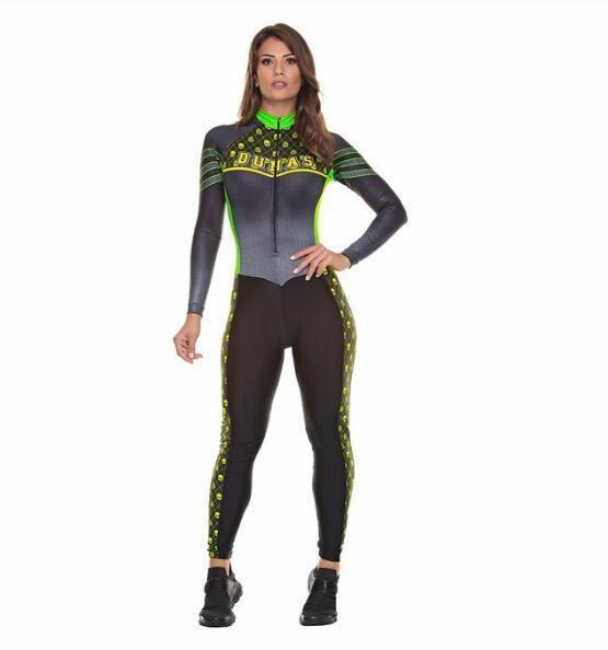 2019 pro equipe triathlon terno feminino ciclismo manga longa camisa skinsuit macacão maillot ciclismo ropa ciclismo conjunto gel 2
