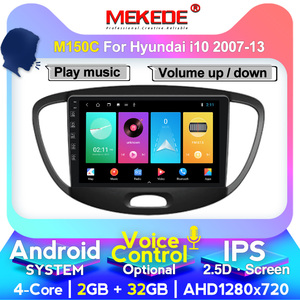 MEKEDE 4G LTE Android For HYUNDAI i10 2007 -2013 Multimedia Stereo Car DVD Player Navigation GPS Radio