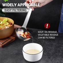 Utensilios de cocina de acero inoxidable, cuchara con filtro, cuchara con colador, aceite de la sopa, herramientas de colador de cocina