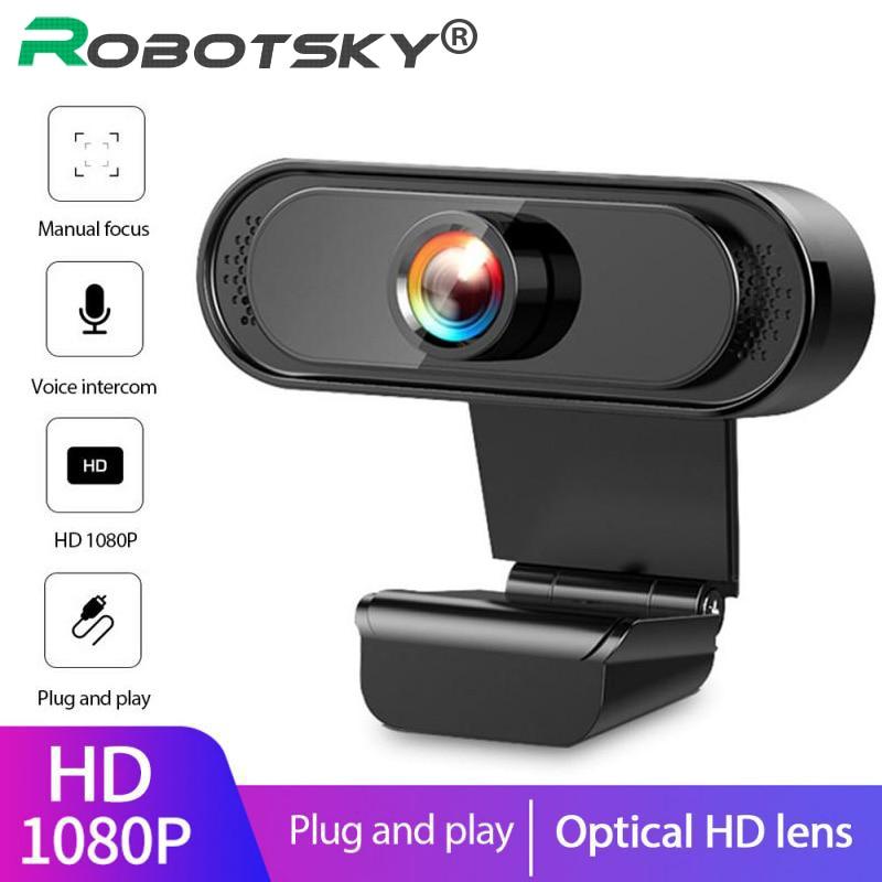 HD Webcam 1080P/720P Web Camera Auto Focus Built-in Noise Reduction Microphone 30fps USB2.0 Web Cam For Laptop Desktop