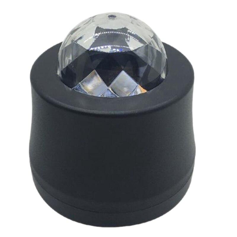 6 Color Changing Car Dj Music Light Mini Rgb Led Mp3 Disco Crystal Magic Ball Stage Strobe Flash Lamp With Usb Plug