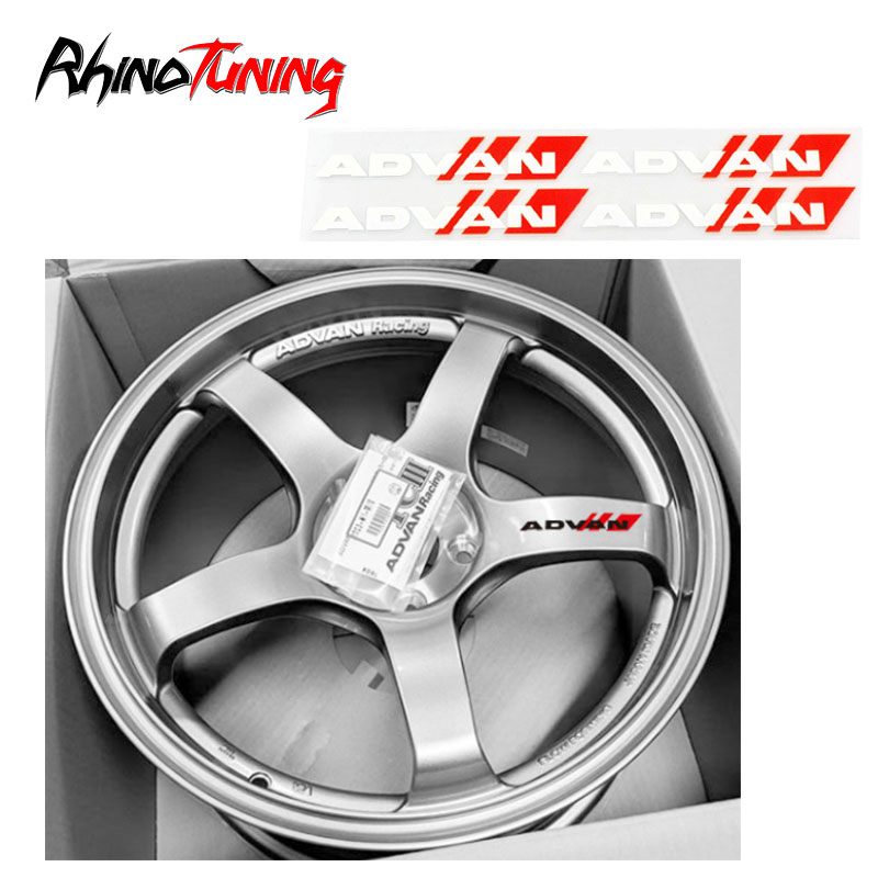 ADVAN Car Wheel Rim Sticker Decoration Auto Styling Decal For Advan Wheels RS-2 RG-D RS-D