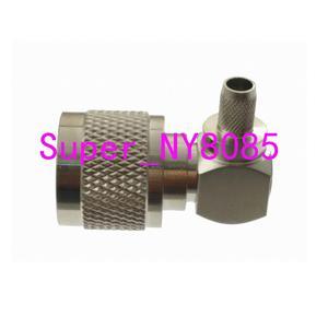 Image 2 - 10pcs Connector N male Plug crimp RG58 RG142 LMR195 RG400 cable right angle