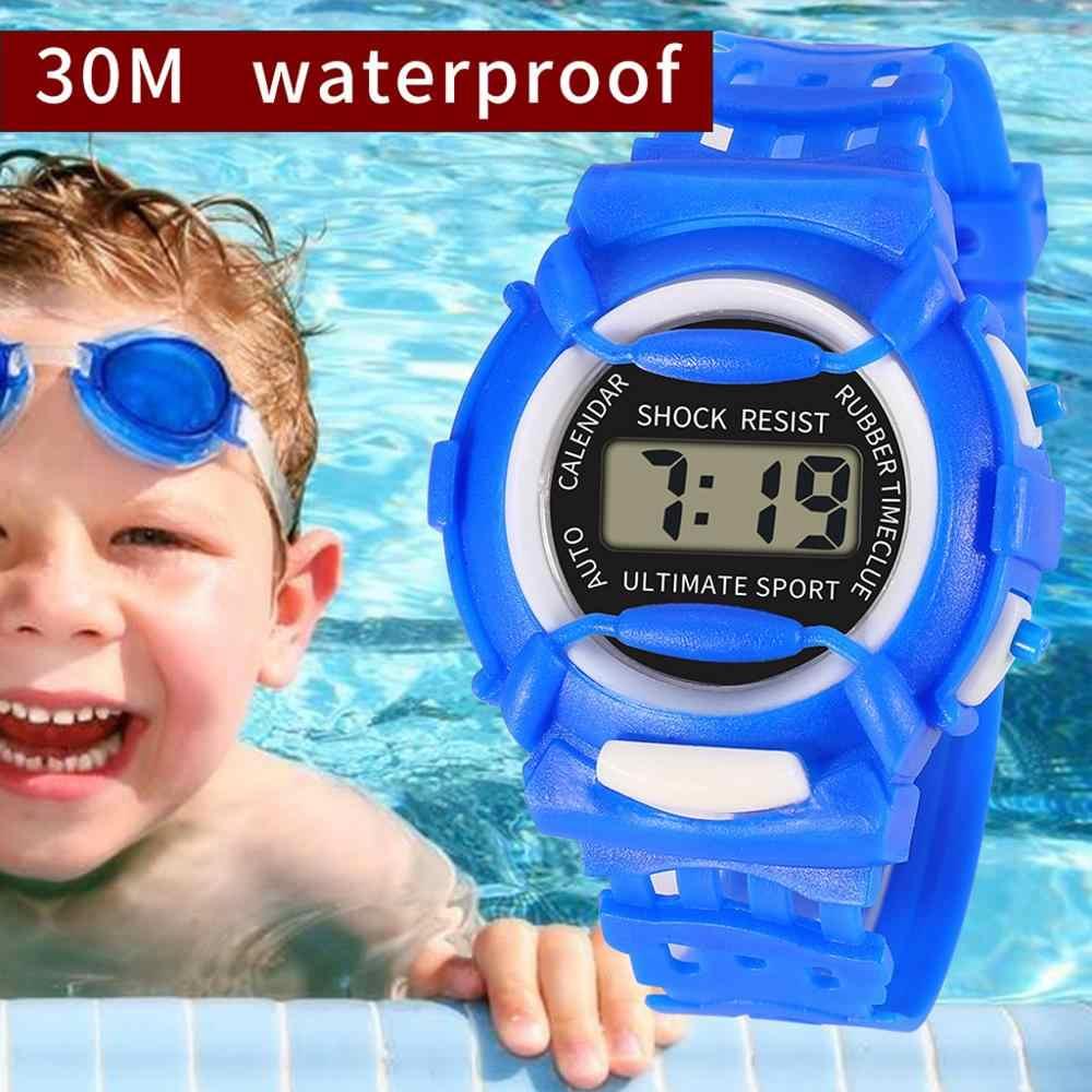 Moda marka çocuk dijital saat çocuklar Analog dijital spor LED elektronik su geçirmez 3Bar bilek saatler orologi bambini 03 *