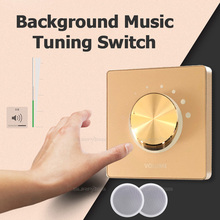 On Wall Stereo Speaker Volume Controller Wall Mount Rotary Volume Control Knob Ceiling Speaker Background Music Tuning Switch