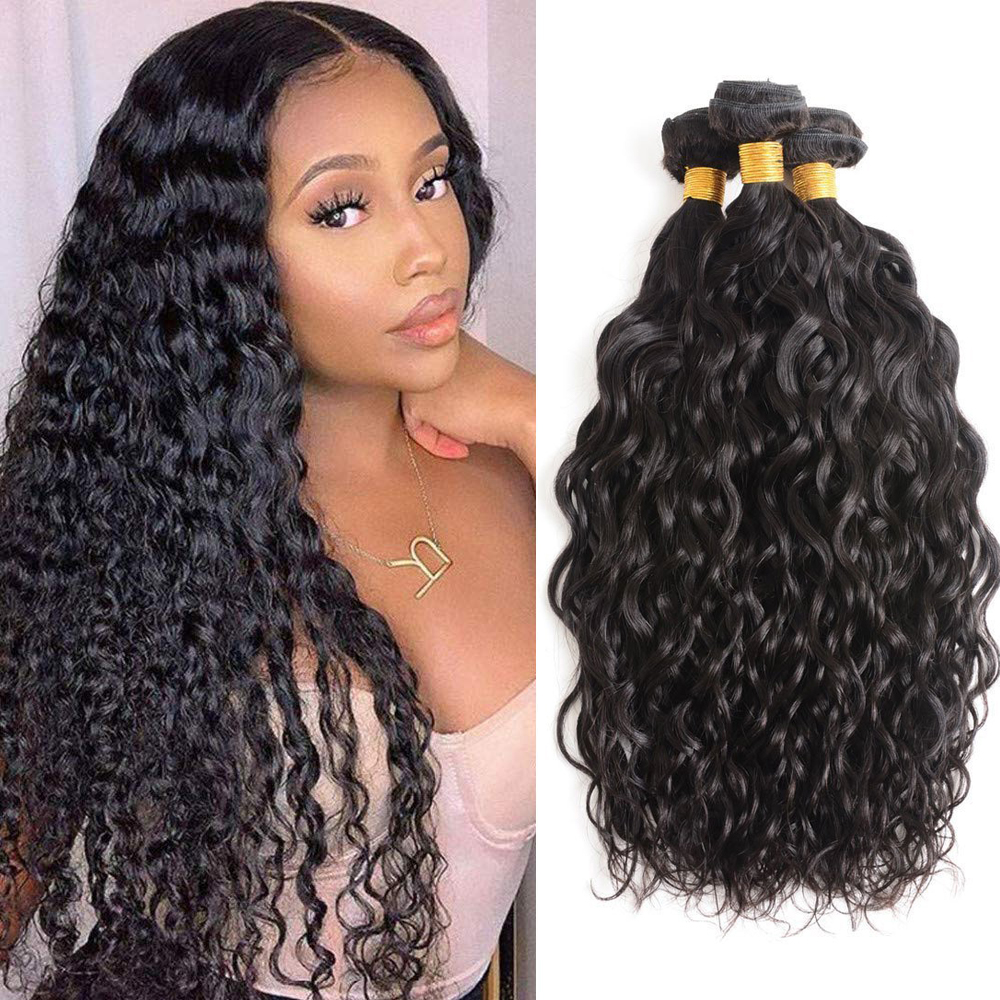 Human Hair Bundles Water Wave Hair Bundles 28 30 Inch Remy Hair Bundles Brazilian Hair Weave 3 Bundles Human Hair Extensions