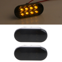 1 Pair Smoke Side Marker Turn Light 8 LED For VW Volkswagen Golf Jetta Passat Car Assembly
