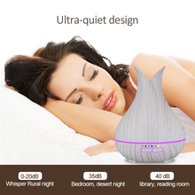 KBAYBO 150ml ultrasonic air humidifier aromatherapy essential oil diffuser white wood grain 7 color household LED light purifier